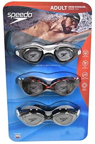 Speedo 3 Pack Adult Swimming Goggles - Colors May - D&g Goggles