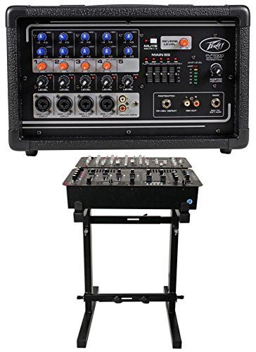Peavey PV5300 200 Watt 5-Ch Powered Live Sound Mixer w/ 5-Band EQ PV 5300+Stand by Peavey