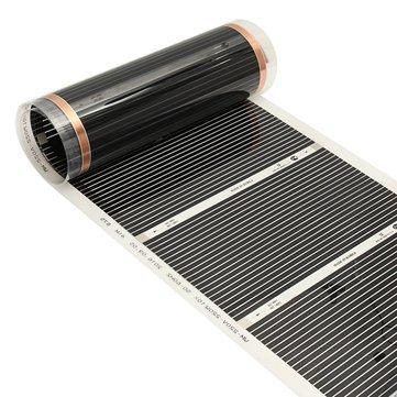 80cm 2M/3M/4M 220V Far Infrared Floor Heating Film Crystal Carbon Fiber Underfloor Heating Film - Electrical Equipment & Supplies Other Electrical Equipment - (4M) - 1 x Infrared Underfloor