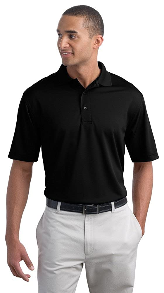 Port Authority Men Poly-Bamboo Charcoal Blend Pique Polo