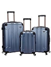 Rockland F190 Abs Upright Luggage Set, Blue, Medium, 3-Piece