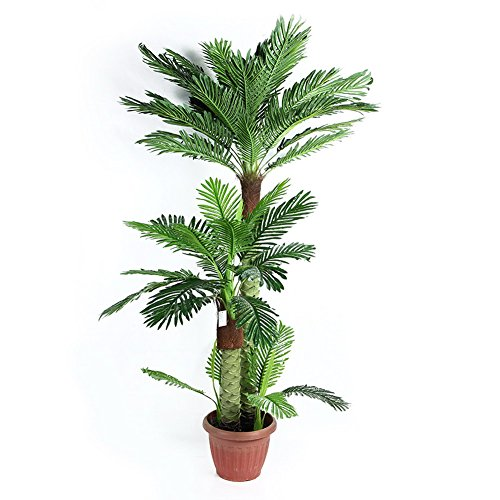 Artificial Palm Tree With Large Silk Green Leaves House
