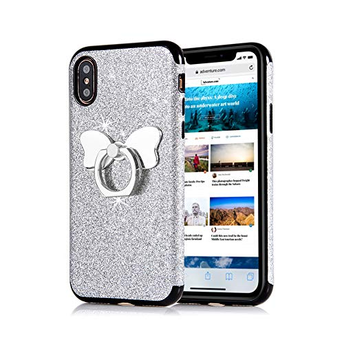 (Sparkle Glitter Kickstand Phone Case for iPhone XR 6.1