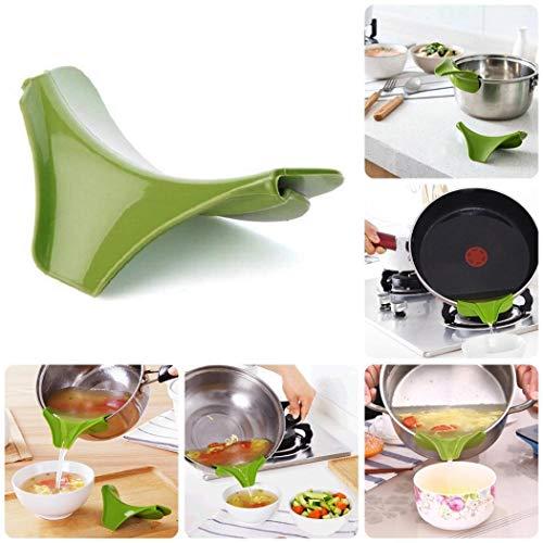 Hello22 Anti-spill Drain Pots Round Rim Liquid Diversion Mouth Poured Soup Kitchen Gadgets Cooking Equipment Accessories