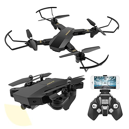 UniDargon FPV RC Foldable Drone S9 with 3D Flips 2.0MP HD Camera Live Video 2.4Ghz 4CH 6-Axis Gyro Quadcopter with Altitude Hold Gravity Sensor Large Capacity Battery Helicopter by UniDargon