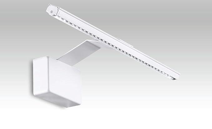 Fan europe applique moderna con luce led integrata 5 w bianco