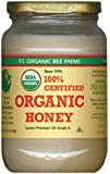 YS Organic Bee Farms CERTIFIED ORGANIC RAW HONEY 100% CERTIFIED ORGANIC HONEY Raw, Unprocessed, Unpasteurized - Kosher 32oz (Pack of 4)