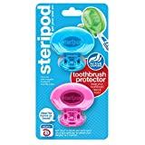 Steripod Clip-on Toothbrush Protector (2 Pack Pink and Blue) I Against Soap, Dirt and Hair I For Travel, Home, Camping
