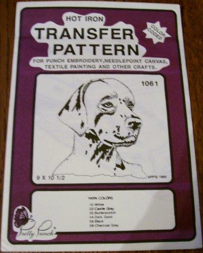 Hot Iron Transfer Pattern #1061 Retriever (For Punch Embroidery, Needlepoint Canvas, Textile Painting & Other Crafts)
