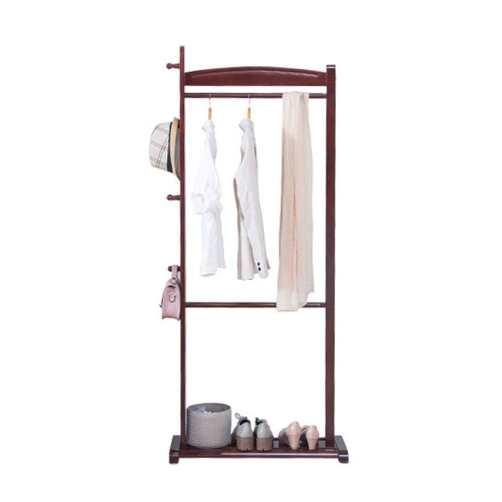 コートハンガー シンプルな洋服ラックモダンコートスタンド木製帽子コートラック寝室の床ハンガー服ツリーオフィス玄関ホール Amazonより   B07QPV8YD2