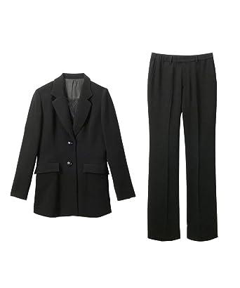68431aa4462f6 [nissen(ニッセン)] フォーマル セレモニー パンツスーツ セットアップ (胸当て付 ロング ジャケット
