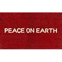 Novogratz Aloha Collection Peace on Earth Doormat, 16 x 26, Red