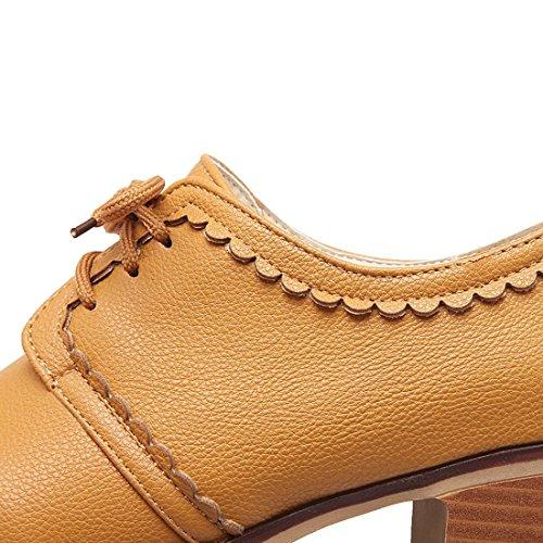 Scarpe Con Brogue Oxford Retrò Classico Scarpe Con Bretelle Da Donna Con Tacco Medio In Pizzo
