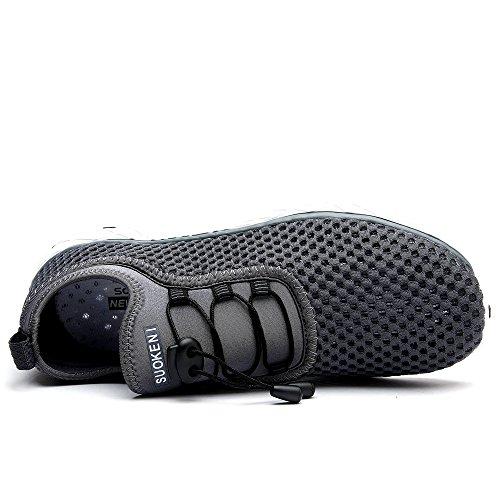 Schnell trocknende Aqua-Wasser-Schuhe der Zhuanglin Männer Dunkelgrau.