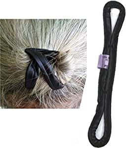 PRO MAN BUN UP, The Only Quality Gentleman's Hair Tie for Top Knots and Buns. Sophisticated and Distinguished Hairstyles. Stop the Pony-Tail Damage. Black Vegan Leather. Handmade USA