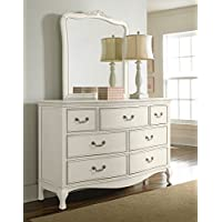 Hillsdale Kids and Teens 20500NDM Kensington 7 Drawer Dresser with Mirror, Antique White