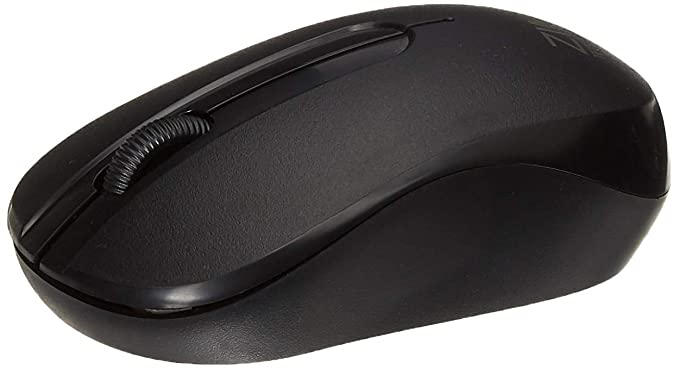 Zinq Technologies 818W 2.4 Ghz Wireless Mouse with 1600DPI for Laptop and Desktop with Ergonomic Design (Black)
