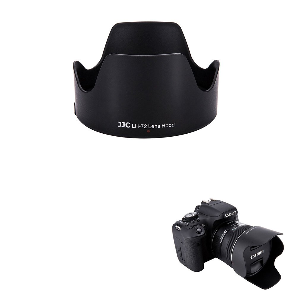 JJC Reversible Dedicated Lens Hood Shade for Canon EF 35mm f/2 IS USM Lens, Canon EW-72 Lens Hood Replacement