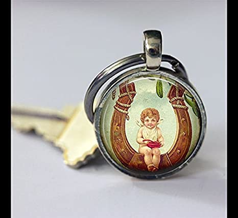 Llavero Llavero de ángel vintage, Vintage buena suerte ...