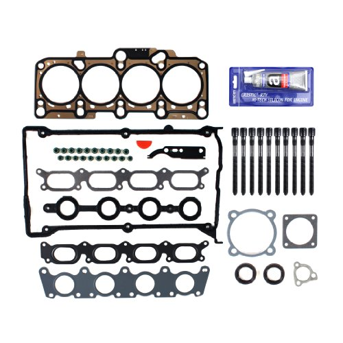 New EH1652X1HBSI-1 Cylinder Head Gasket Set, RTV Silicone, & (136mm) Head Bolt Kit - Golf Cylinder Head