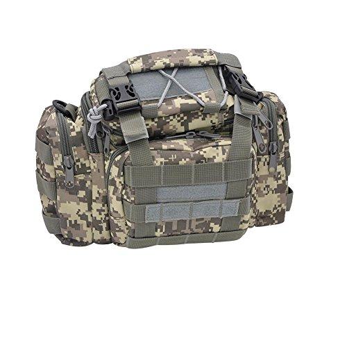 Pusheng Camouflage Fishing Tackle Bags Tackle Bag Shoulder Bag Waterproof Outdoor Bag (APU Camouflage)