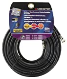 CABLE COAX RG6 50' BLACK by MONSTER JHIU MfrPartNo 140040-00