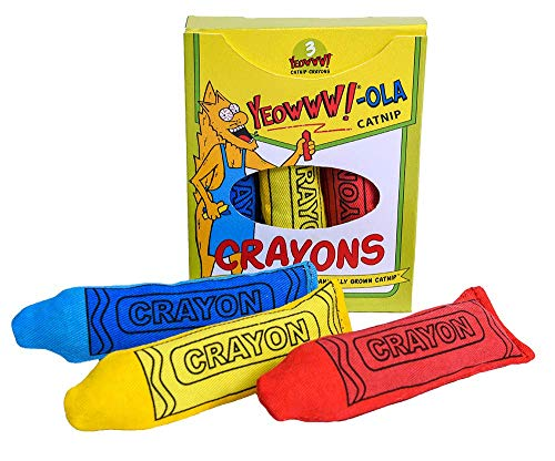 Ducky World Yeowww-Ola Crayons Cat Toy 3pc Set Organic -
