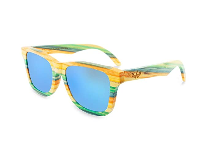 Gafas de sol madera MOSCA NEGRA modelo COOLBAM and Blue - Polarized - Unisex