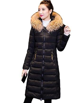 Amincissant Chaud Longue Manteau Femme Col Épais Avec Zippé Doudoune x6fqAR