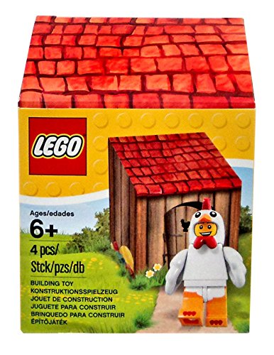 LEGO, Chick Suit Guy Minifigure with Coop (Lego Suit)