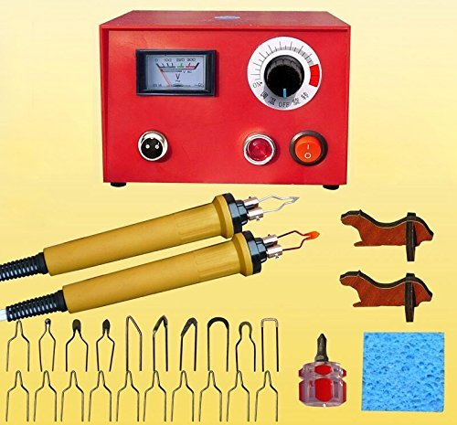JIAN YA NA 110V 50W Wood Burning Tool Gourd Wood Crafts Tool Kit Multifunction Pyrography Machine