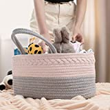 COSYLAND Baby Diaper Caddy Organizer, Cotton Rope