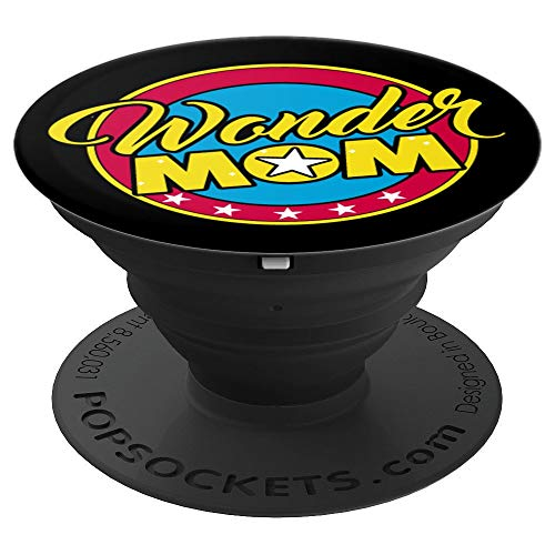 Wonder Mom - Women Warrior - Superhero Woman - Funny Gift - PopSockets Grip and Stand for Phones and Tablets