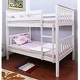 Milton Greens Stars Hemlock Wooden Bunk Bed, Twin, White