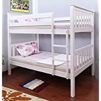 Milton Greens Stars Hemlock Wooden Bunk Bed, Twin, White