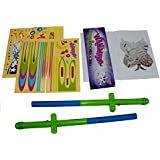 Flying Toy Wand. Magic Wand Levitation Stick with Flying Toy Shapes - Set of 2. Cheap Toys For Fun, Cool Toys For Fun.