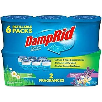DampRid FG01FSLV33C Moisture Absorber Odor Eliminator,Lavender and Vanilla, 6 pack