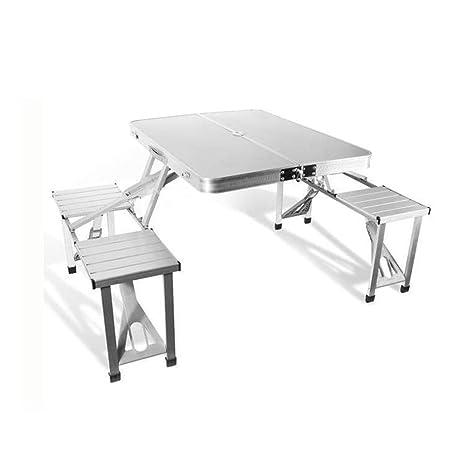 Asdflina-furniture Mesa Plegable Centro de Mesa portátil al Aire ...