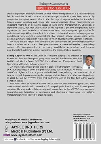 Buy Challenges Controversies In Kidney Transplantation Book Online