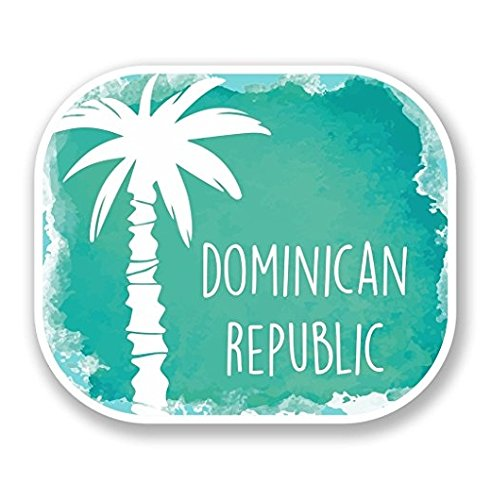3 Pack - Dominican Republic Vinyl SELF ADHESIVE STICKER Decal - Sticker Graphic - Construction Toolbox, Hardhat, Lunchbox, Helmet, Mechanic, Luggage (Dominican Republic Scrapbooking)