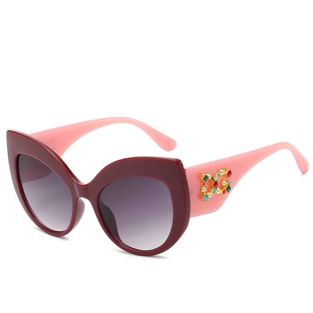 Yangjing-hl Moda Moda Diamante Gafas de Sol Personalidad Calle Pat ...