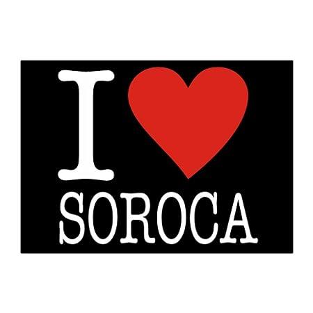 Amazon Teeburon I Love Soroca Pack Of 4 Stickers Home Kitchen