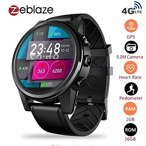 2bd5e907fe3 Zeblaze Thor 4 Pro- Android 7.1.1 MTK6739 1.25GHz Quad Core Smartwatch  1GB+16GB 5.0MP 600mAh Wifi GPS Camera 4G Data Call Watch for Men Support  Android iOS ...