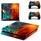 UUShop Lighting Galaxy Vinyl Skin Decal Sticker Cover Set for Sony PS4 Console and 2 Dualshock Controllers Skin