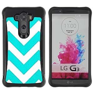 Suave TPU GEL Carcasa Funda Silicona Blando Estuche Caso de protección (para) LG G3 / CECELL Phone case / / Teal White Stripes Pattern /