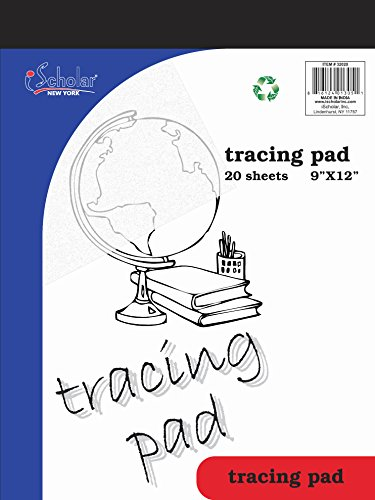 iScholar Tracing Tablet, 9 x 12 Inches, 20 Sheets