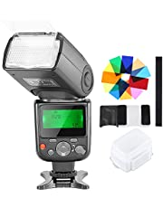 Neewer NW-670 TTL Flash Speedlite with Diffuser, 12 Coloured Filters for Canon 7D Mark II 5D Mark II III IV 1300D 1200D 1100D 750D 700D and Other Canon DSLR
