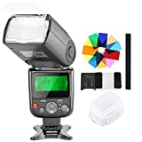 Neewer NW-670 TTL Speedlite Flash with Hard Diffuser,12 Color Filters,Microfiber Cleaning Cloth Kit