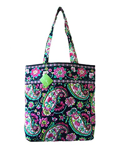 Vera Bradley Tote With Solid Color Interior  Updated Version  In Petal Paisley With Solid Pink Interior