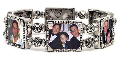 - Memory Maker Horizontal 6 Frame Stretch Photo Bracelet (X-Large (7¾